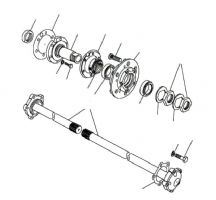 Rear Hubs & Driveshafts JA032851 Onwards